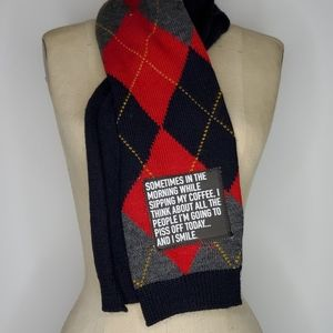Handmade Recycled Scarf Sassy sayings great gift